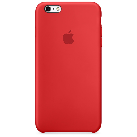 APPLE SILICONE CASE IPHONE 6 PLUS RED image