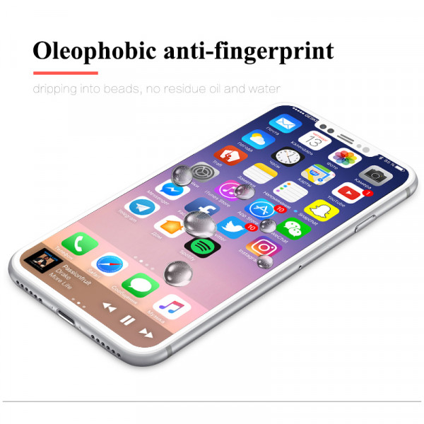 Baixin 4D Protector Glass iPhone X(s) Wit image