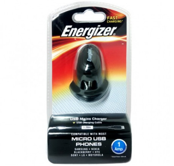 Energizer Fast Charging Usb Mains Charger + Usb Charging Cable image