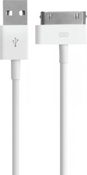 Ewent USB2.0 naar Apple 30 pin kabel OD 3.5 lengte 1.0 M - Wit image