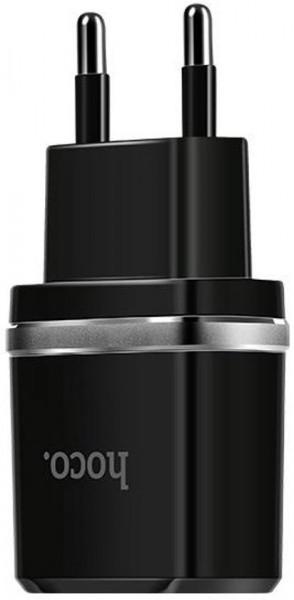 Hoco C12 Smart dual USB charger Black image
