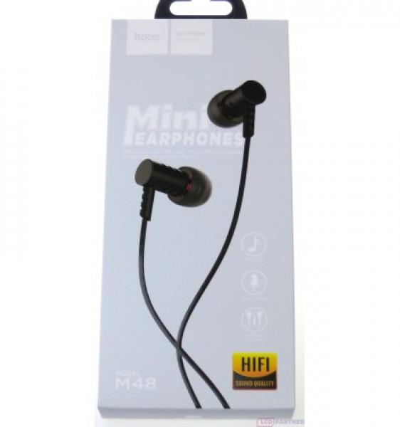 Hoco M48 Keen sound universal earphones with microphone Black image