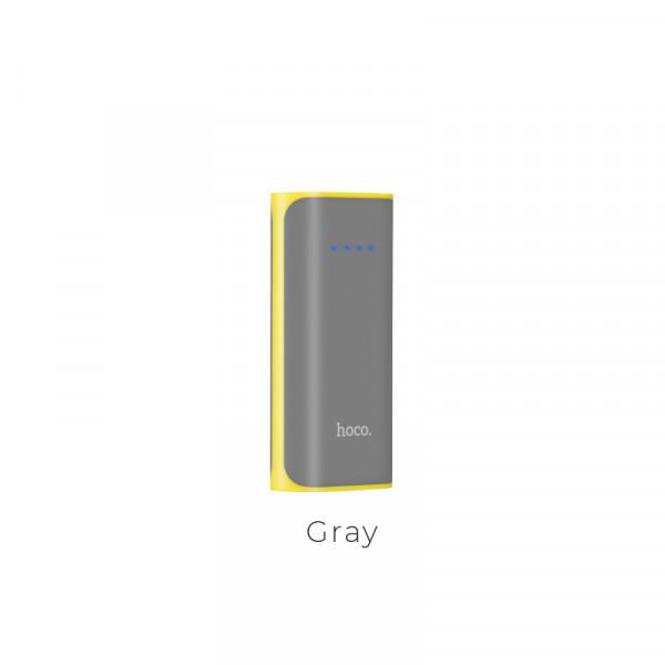 Hoco Power bank «B21 Tiny Concave» 5200 mAh power indicator Gray image