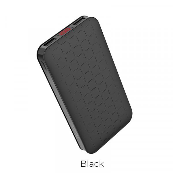 Hoco Power bank «J29A Cool square» 10000 mAh dual USB output Black image