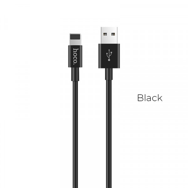 Hoco X23 Skilled lightning charging data cable Black image
