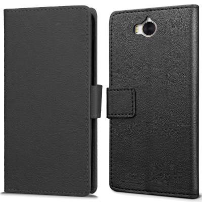 Just in Case Huawei Y5 (2017) Wallet Case (Black) image