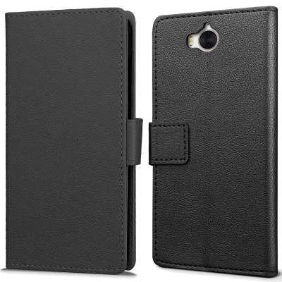 Just in Case Huawei Y6 2017 Wallet Case Black image