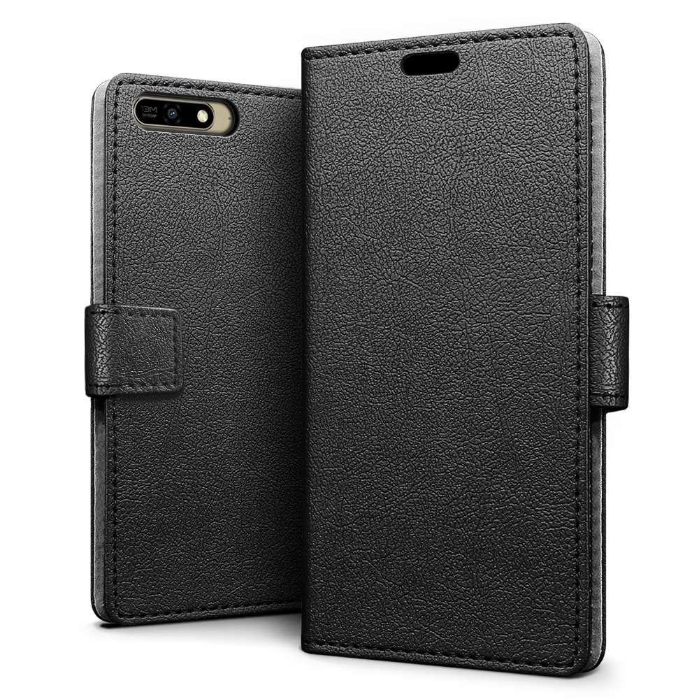 Just in Case Huawei Y6 2018 Wallet Case Black image