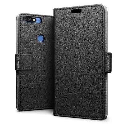 Just in Case Huawei Y7 2018 Wallet Case (Black) image