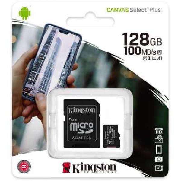 Kingston Canvas Select Plus microSD Card 10 UHS-I - 128GB - inclusief SD adapter image