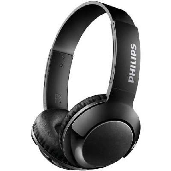 Philips BASS+ On-ear Bluetooth Headphone SHB3075BK - Black image