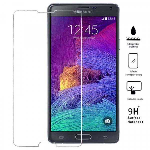 Premium Galaxy Note 4 Tempered Glass Transparent image