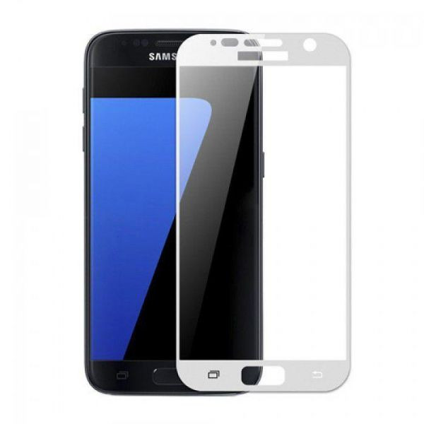 Protect Case Samsung Galaxy S7 Tempered Glass White image