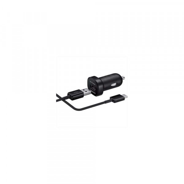 Samsung Fast Charging Mini USB-C Autolader (Black) - EP-LN930BB (18W) image
