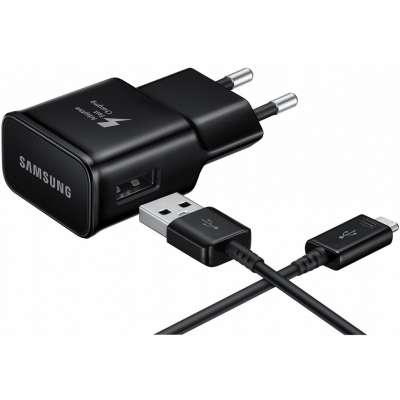 Samsung USB-C Fast Charger (2A) (Black) - EP-TA20EBECG image