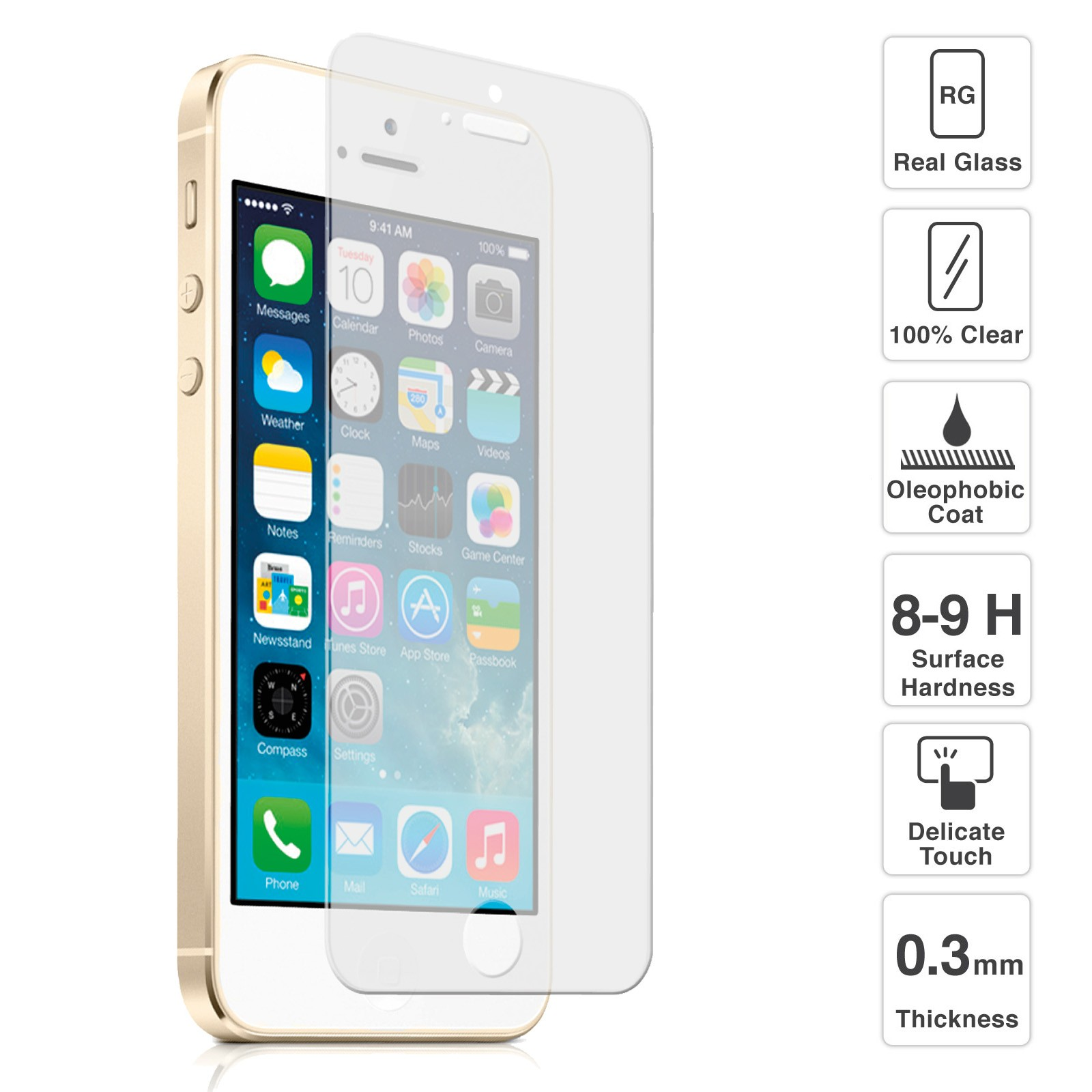 Transparent Protector Glass voor iPhone 5(SE) image