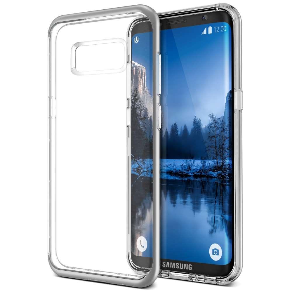 VRS Design Crystal Bumper Case Samsung S8 (Light Silver) image